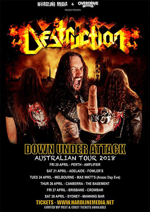 destruction australian tour